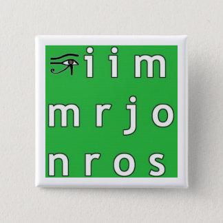 Jim Morrison Anagram Button