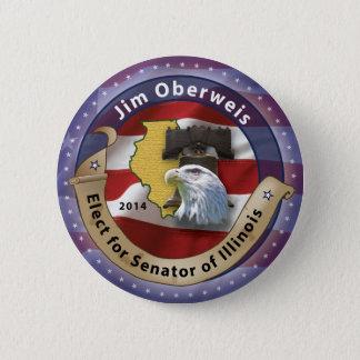 Jim Oberweis 2 Inch Round Button