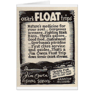 Jim Owen Float Trip Branson Missouri Card