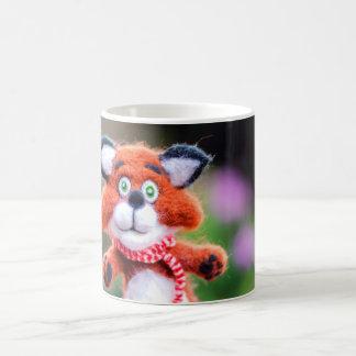 Jim the Fox Cute Toy Needle Felted Funny Cub Mug