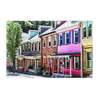 Jim Thorpe Pa - Colorful Street Acrylic Wall Art