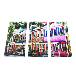 Jim Thorpe Pa - Colorful Street Canvas Print