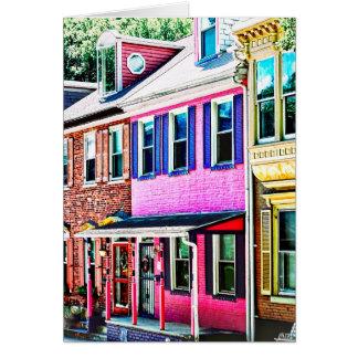 Jim Thorpe Pa - Colorful Street Card