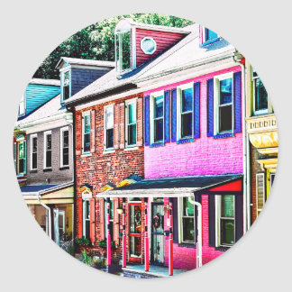 Jim Thorpe Pa - Colorful Street Classic Round Sticker