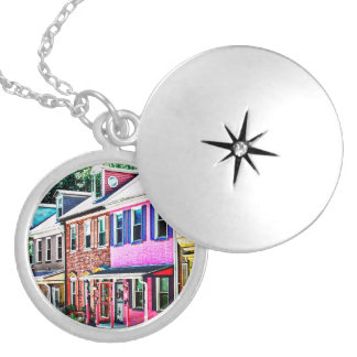 Jim Thorpe Pa - Colorful Street Locket Necklace