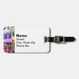 Jim Thorpe Pa - Colorful Street Luggage Tag