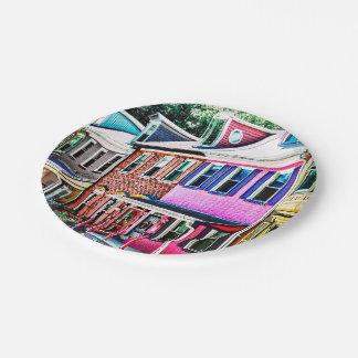 Jim Thorpe Pa - Colorful Street Paper Plate