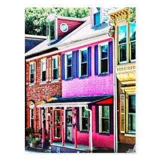Jim Thorpe Pa - Colorful Street Postcard
