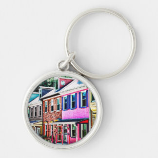 Jim Thorpe Pa - Colorful Street Silver-Colored Round Keychain