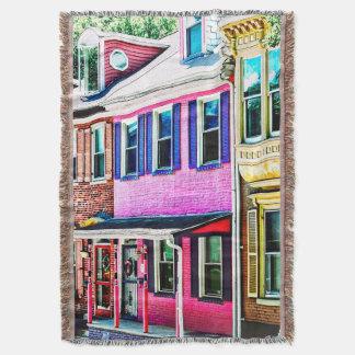Jim Thorpe Pa - Colorful Street Throw Blanket