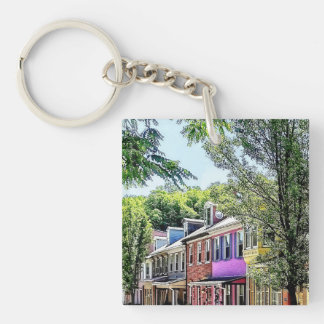 Jim Thorpe PA - Quaint Street Keychain