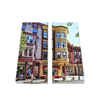 Jim Thorpe Pa - Shops Along Broadway Canvas Print