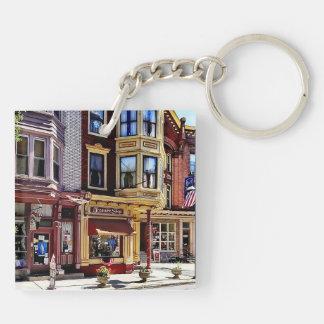 Jim Thorpe Pa - Shops Along Broadway Double-Sided Square Acrylic Keychain