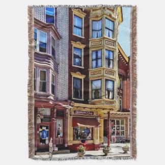 Jim Thorpe Pa - Shops Along Broadway Throw Blanket