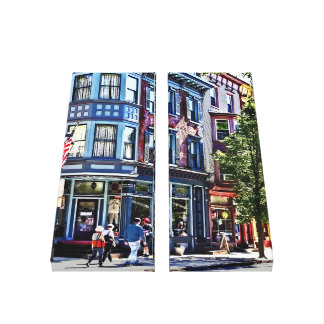 Jim Thorpe Pa - Window Shopping Canvas Print