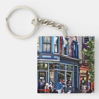 Jim Thorpe Pa - Window Shopping Double-Sided Square Acrylic Keychain