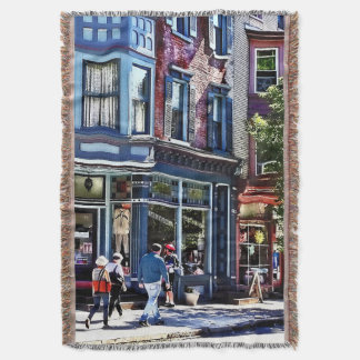 Jim Thorpe Pa - Window Shopping Throw Blanket