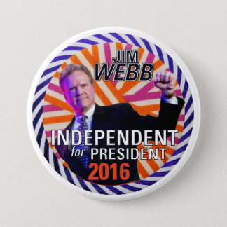 Jim Webb 2016 3 Inch Round Button