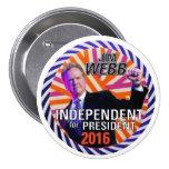 Jim Webb 2016 3 Inch Round Button