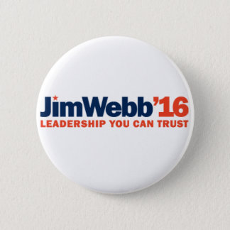 "Jim Webb 2016 Campaign Button - 2.25"" Round"