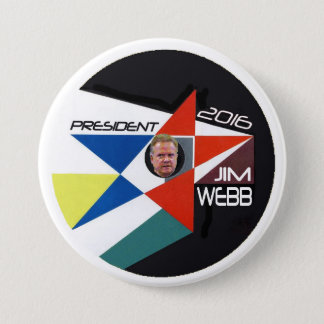 Jim Webb Democrat for President 3 Inch Round Button
