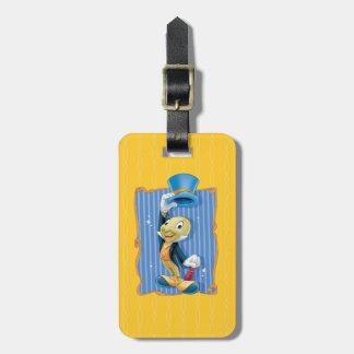 Jiminy Cricket Lifting His Hat Luggage Tag