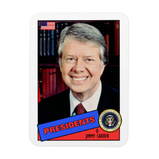 Jimmy Carter Baseball Card Magnet