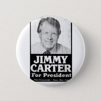 Jimmy Carter Distressed Black And White 2 Inch Round Button