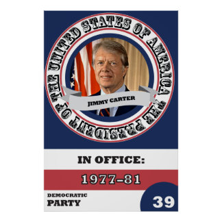 Jimmy Carter Presidential History Retro Poster