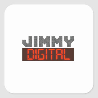 Jimmy Digital Square Sticker