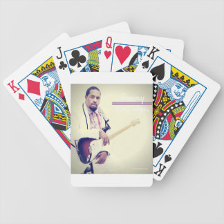 Jimmy Electric Guitar Tee Bicycle Playing Cards