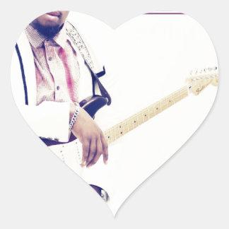 Jimmy Electric Guitar Tee Heart Sticker