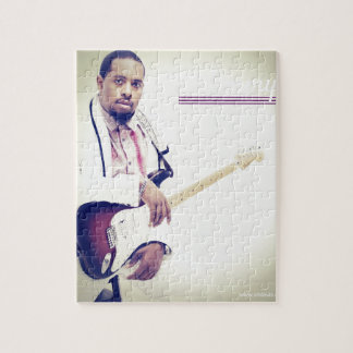 Jimmy Electric Guitar Tee Jigsaw Puzzle