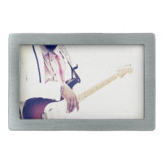 Jimmy Electric Guitar Tee Rectangular Belt Buckle