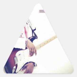 Jimmy Electric Guitar Tee Triangle Sticker