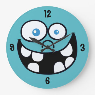 Jimmy Round Clock (blue)