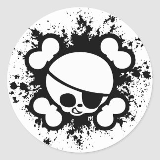 Jimmy Splat Round Sticker