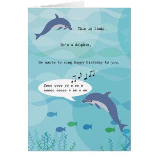 Jimmy the Dolphin Birthday Card