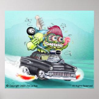 Jimmy's Jalopy Monster Poster