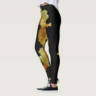 Jimmy's Orange Bearded Iris Leggings
