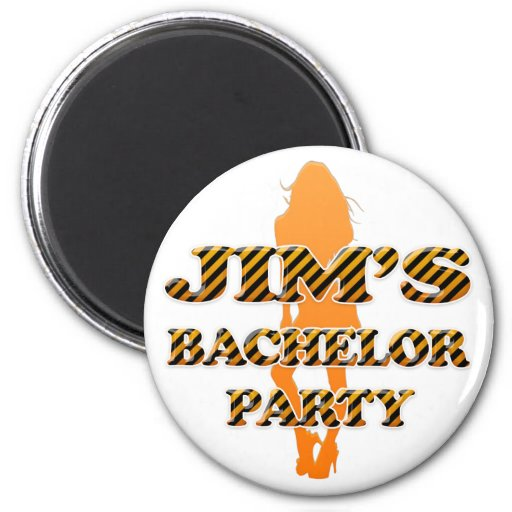 Jim's Bachelor Party Refrigerator Magnet