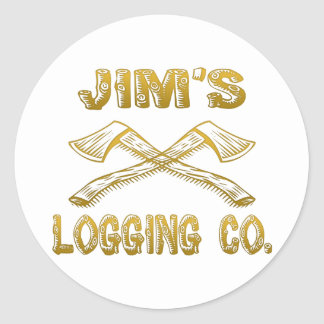 Jim's Logging Company Round Sticker