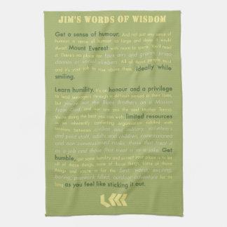 Jim's Words of Wisdom Hand Towel