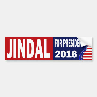 Jindal For President 2016 Bumper Sticker