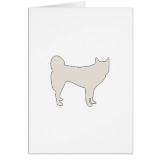 jindo color silhouette greeting card