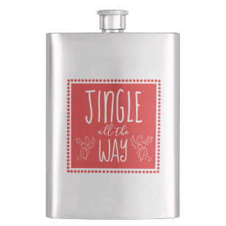 Jingle all the Way Graphic Flask
