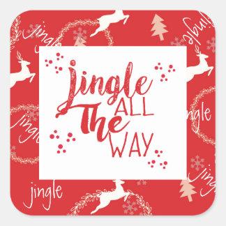 Jingle All The Way Holiday Sticker