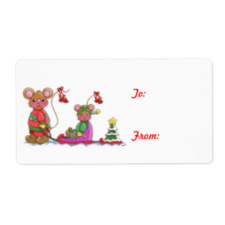 Jingle all the Way Personalized Shipping Label