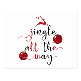 jingle all the way postcard
