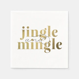 Jingle and Mingle Christmas Holiday Party Paper Napkins